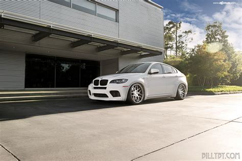 Alpine White Bmw X6 M With Avantgarde F410 Spec2 Wheels