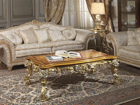 imperial sofa  fabric  carved table vimercati