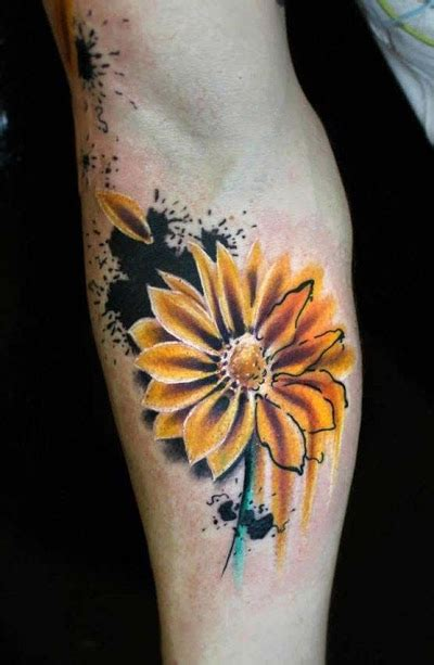 daisy tattoos designs  ideas  meanings