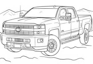 coloriage 2017 chevrolet silverado coloriages a With 1970 ford f 150 4x4