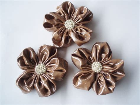 3pcs Colorful Flower Canvas Abstract Painting Print Art: Taupe Vinyl Like Fabric Flower Appliques Embellishments(3