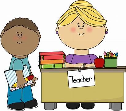 Teacher Student Desk Boy Clip Clipart Helper
