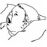 Coloring Sleepy Yawning Because He sketch template