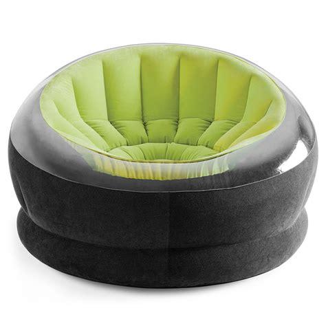 siege gifi fauteuil de jardin gonflable onyx vert 68582npv achat