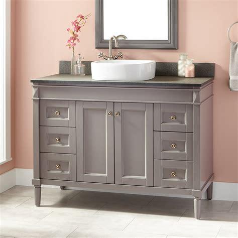 48 inch vessel sink vanity 48 quot chapman vessel sink vanity gray bathroom
