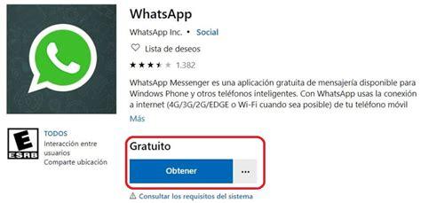 descargar whatsapp en windows phone 8 1 2019 ayuda celular