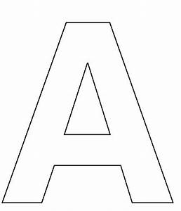 alphabet letter a coloring page for kids pre school With large cut out alphabet letters