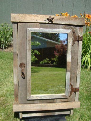 reclaimed wood medicine cabinet rustic