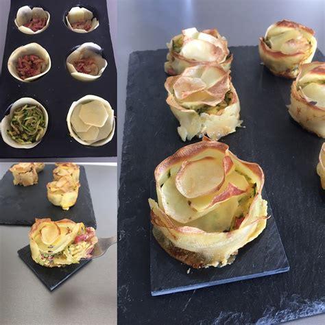cupcakes de pomme de terre courgettes et bacon rachel