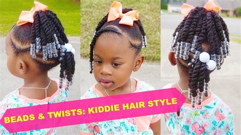 beads twists toddler natural hair style thick