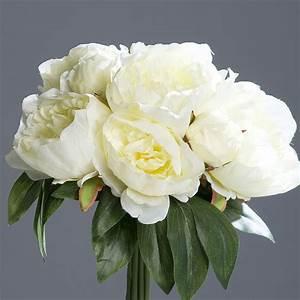 Rose Blanche Artificielle : pivoine bouquet fleur artificielle ~ Teatrodelosmanantiales.com Idées de Décoration