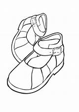 Coloring Shoes Sheet Sky sketch template