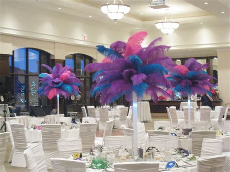 Flower And Event Decor Ostrich Feather Centerpieces Best