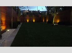 Modern Garden Design Night View Garden Cream Smooth Paving
