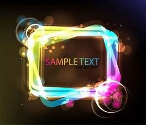 Neon Glowing Light Frame free vectors Clipart