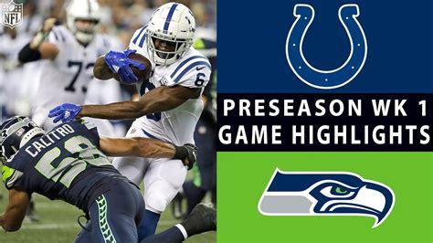 colts  seahawks highlights nfl  preseason week