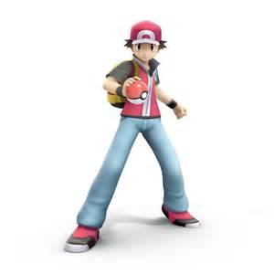 Pokemon Trainer Smash Bros Trophy Render