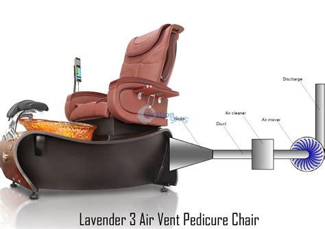 lavender 174 3 air vent pedicure chair
