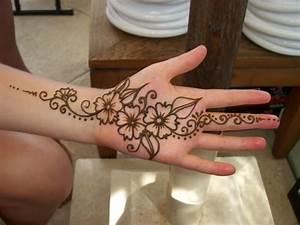 Henna Tattoo on Girls Hand