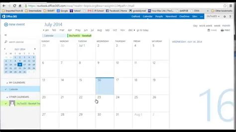 Office 365 Outlook Calendar by Office 365 Calendar Create Calendar