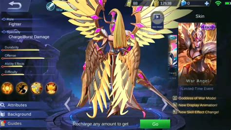 War Angel Freya!! New Freya Epic Skin First Look| Mobile