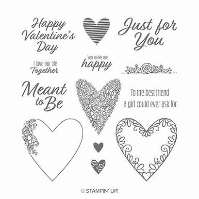 Meant Stamp Stampin Cling Valentine Bundle Card