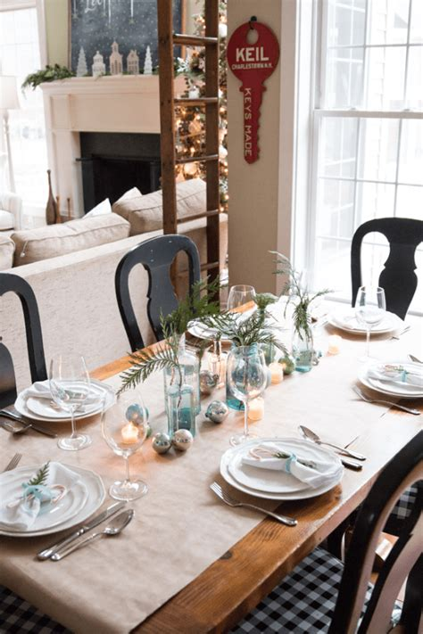 christmas tablescape ideas  southern home