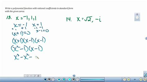 how to write polynomial functions when given zeros sciencing