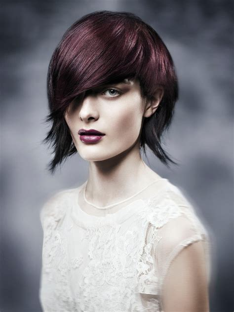 pictures asymmetrical bob hairstyle