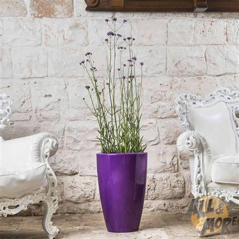 vaso arredo moderno vaso resina h50 lucido bianco tondo arredo moderno living