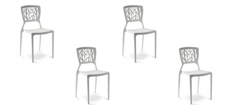 lot de 4 chaises blanches chaise design verdi