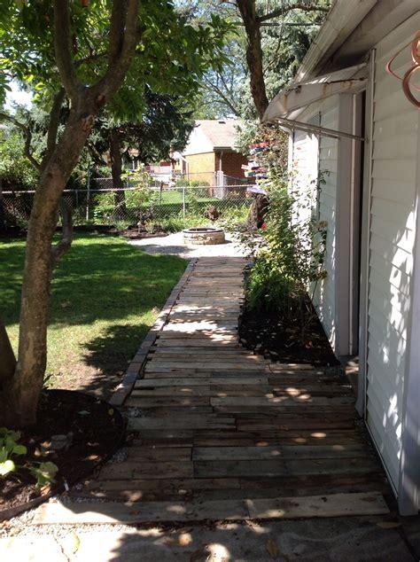 pallet walkway walkways paths garden paths pallet walkway