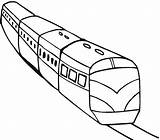 Train Coloring Metro Colorear Tren Transportation Colouring Trains Printable Imagenes Clipart Ticket Template Transportes Clip Sketch Funny Tunnels Pasajeros Plate sketch template