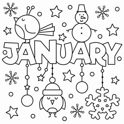 Coloring January Pages Printable Fun Welcome Printables