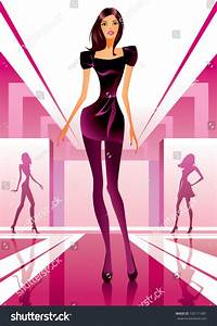 Fashion Models Show New Clothes Fashion Stock Vector 102171481 - Shutterstock