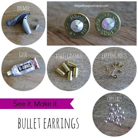 bullet earrings attheyellowpostcard diy