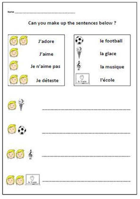 125 best french printable worksheets images on pinterest