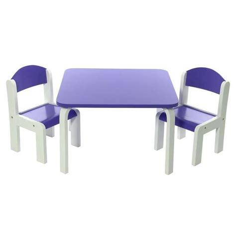 table et chaise bebe ensemble table et chaises enfant violet en bois fabio momo