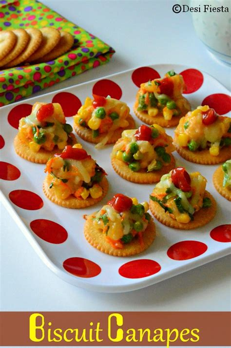 canape toppings biscuit canapes with vegetable topping