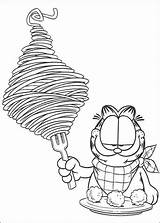 Spaghetti Coloring Pages Garfield Supercoloring sketch template
