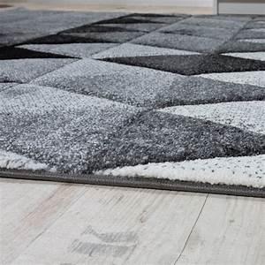 Moderne Teppiche Günstig : designer teppich bunte raute muster konturenschnitt grau ~ Lateststills.com Haus und Dekorationen
