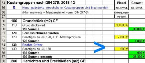 eigenleistung hausbau tabelle din 276 baukosten 2016 bruttorauminhalt umbauter raum eur cbm m3