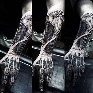 Terminator Tattoo-A Terminator Arm Ripped Skin Idea ...