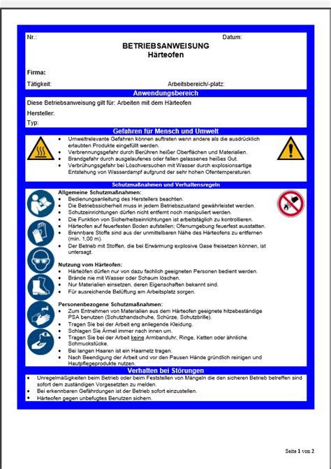 vertrag vorlageatdigitaldruckede betriebsanweisung