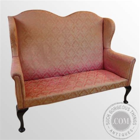 High Back Settee Sale by Antique Sofa High Back Wing Arm Settee 3
