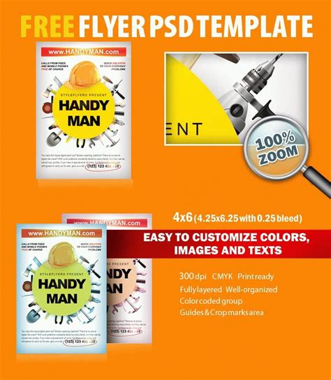 free printable flyer handyman psd flyer template free 8079 styleflyers
