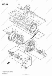 Suzuki Motorcycle 2006 Oem Parts Diagram For Clutch