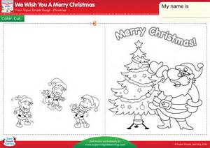 worksheets merry christmas we wish you a merry christmas worksheet make a chirstmas