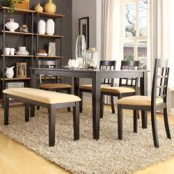 lexington 6 piece dining table set with window back chairs