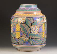 poole pottery vase  large csa vase decorated
